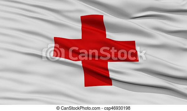 Bandiera Closeup Croce Rosso