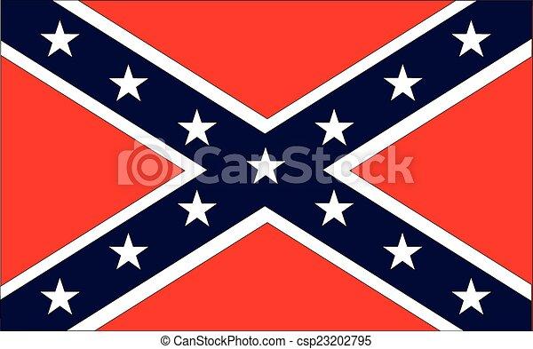 bandiera, confederato - csp23202795
