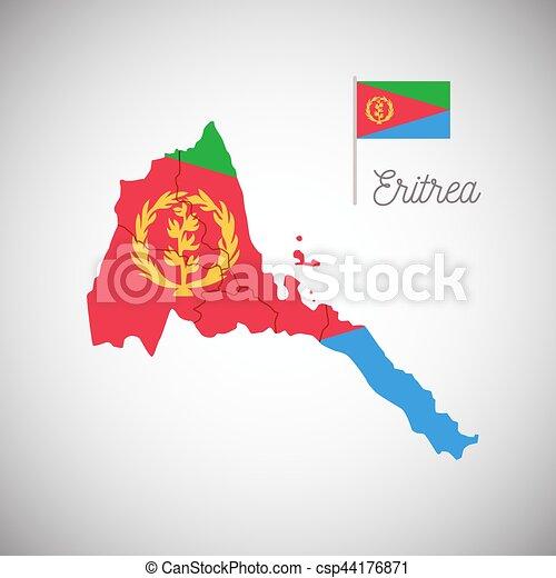 Cartina Eritrea.Bandiera Eritrea Mappa Eritrea Mappa Bandiera Isolato Illustrazione Vettore Canstock