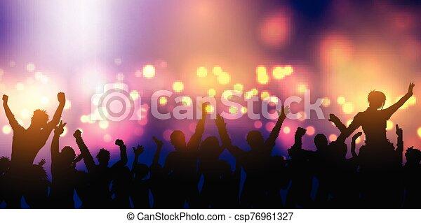 bandiera, folla, festa, disegno, 0601 - csp76961327
