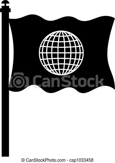 bandiera, globale - csp1033458