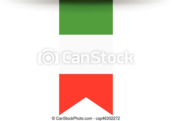 bandiera, italiano - csp46302272