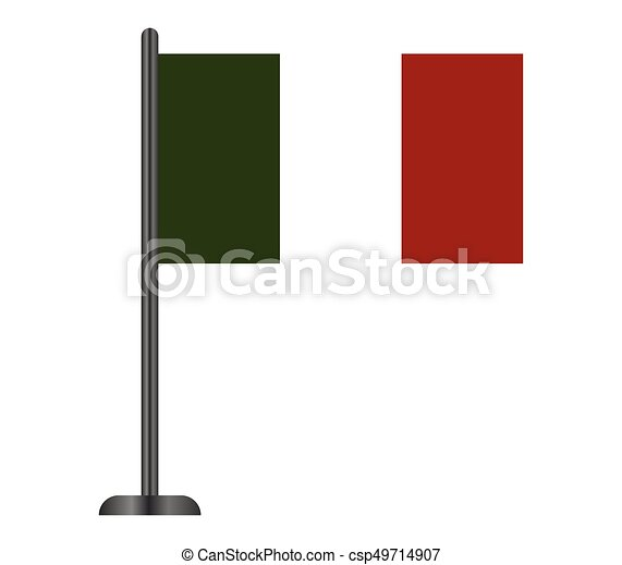 bandiera, italiano - csp49714907