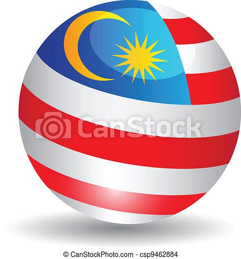 bandiera, malaysia.vector, globo - csp9462884