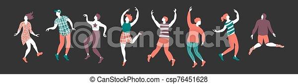 bandiera, orizzontale, ballo, persone - csp76451628