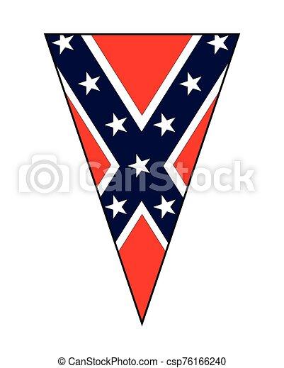 bandiera, pavese, confederato, guerra, triangolo, civile - csp76166240