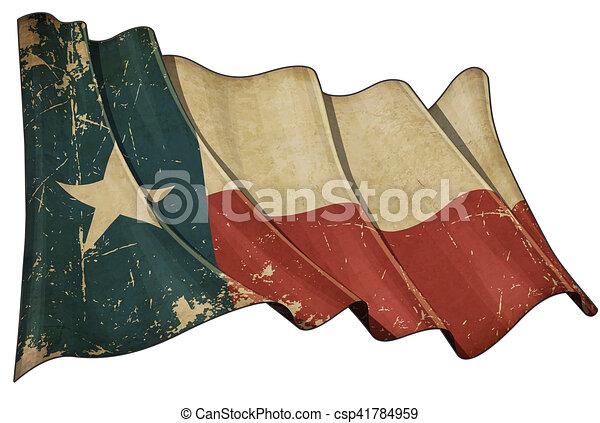 bandiera, texan, invecchiato - csp41784959