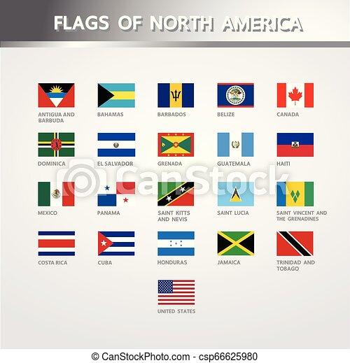 bandiere, america, nord - csp66625980