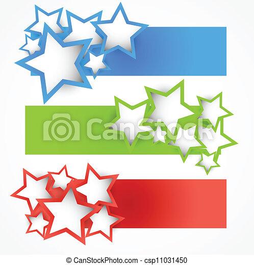 bandiere, set, stelle - csp11031450