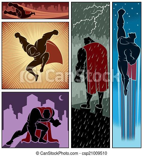 bandiere, superhero, 3 - csp21009510