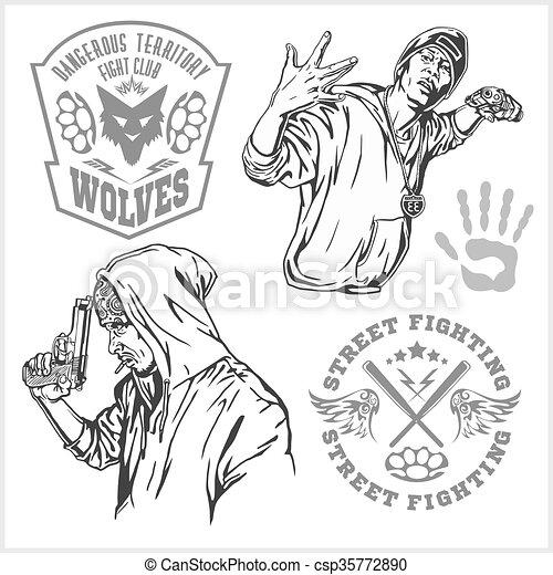 Bandits and hooligans - criminal nightlife - csp35772890
