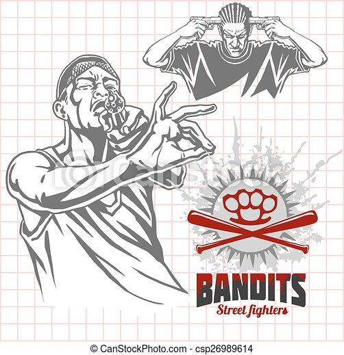 Bandits and hooligans - criminal nightlife - csp26989614