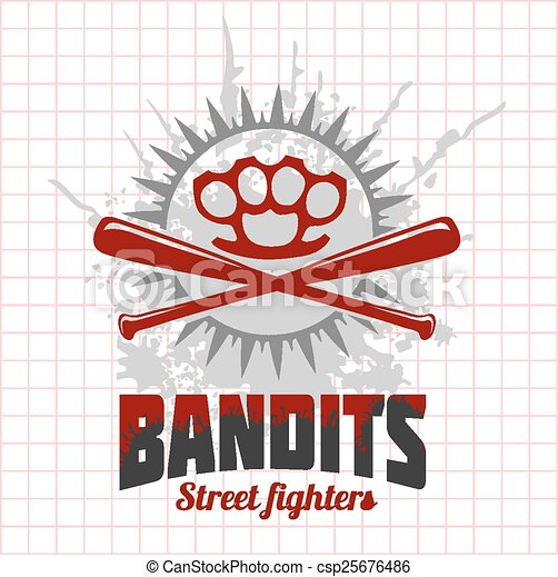 Bandits and hooligans - emblem of criminal nightlife - csp25676486