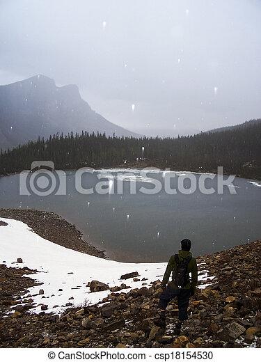 Banff national park landscape - csp18154530