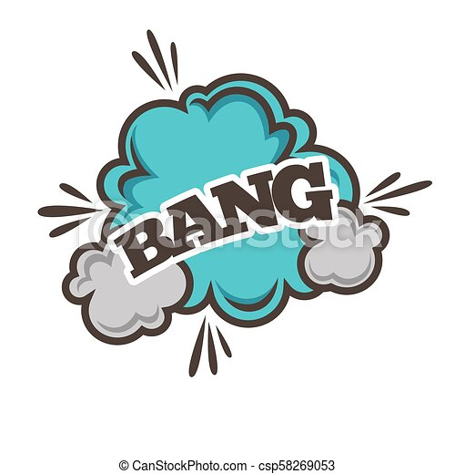 bang bubble sound blast vector cloud bang bubble sound blast clouds for cartoon or comic book with explosions and puff https www canstockphoto com bang bubble sound blast vector cloud 58269053 html