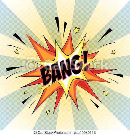 Bang. Comic Speech Bubble, Cartoon. - csp40930118