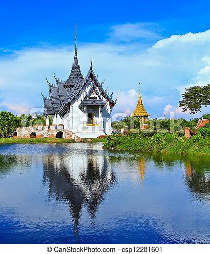 bangkok, prasat, sanphet, palazzo, tailandia - csp12281601