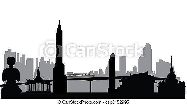 bangkok, skyline - csp8152995