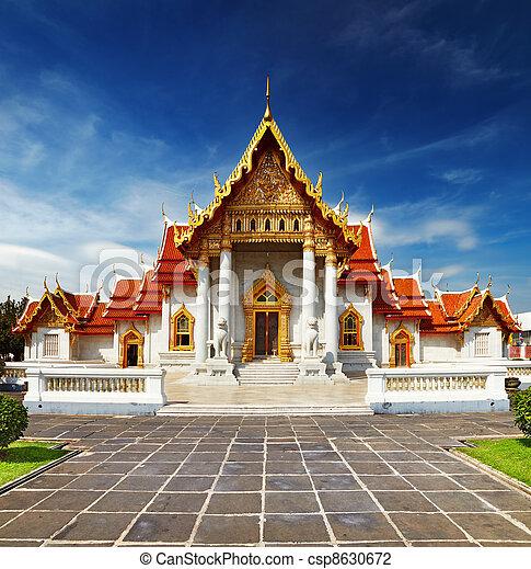 bangkok, tempio, marmo - csp8630672
