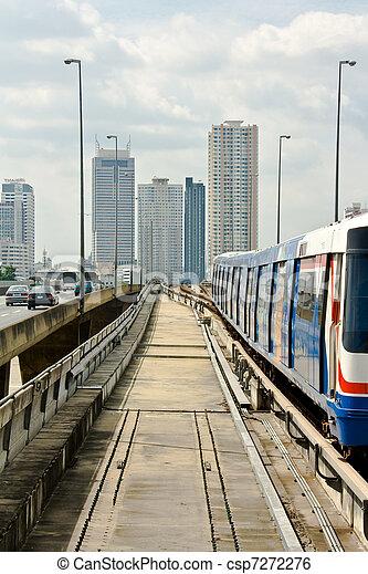 bangkok, trem, céu - csp7272276