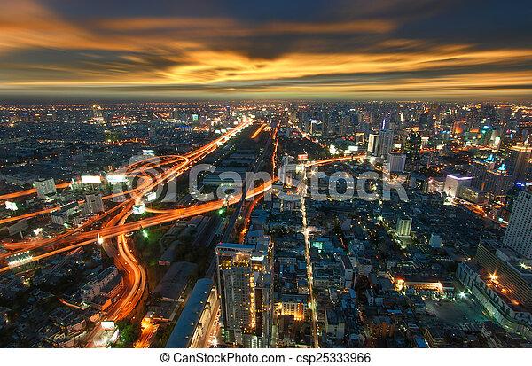 bangkok, város - csp25333966