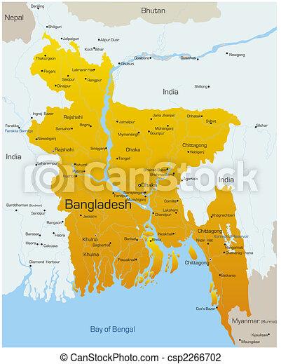 Vector map of bangladesh country vector illustration search bangladesh csp2266702 gumiabroncs Gallery