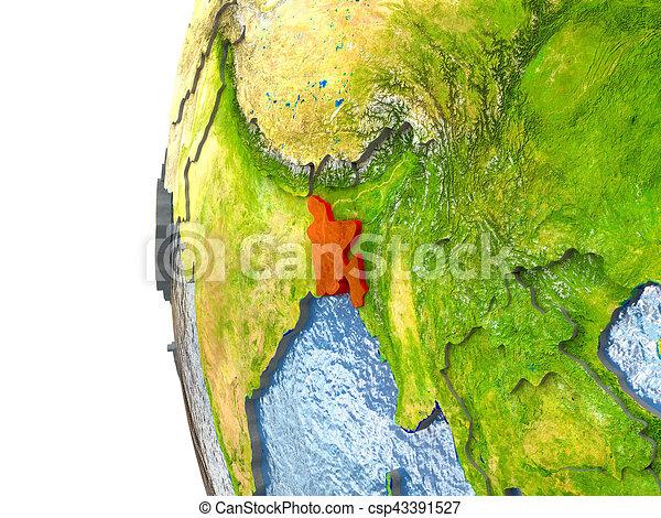 Bangladesh in red - csp43391527