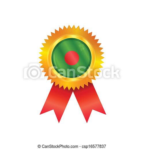 Bangladesh medal flag - csp16577837