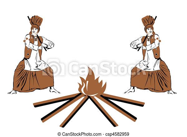 bangra celebration - csp4582959