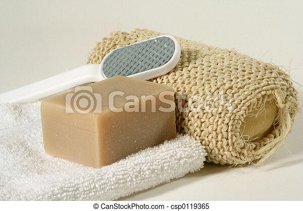 banheiro, objetos - csp0119365
