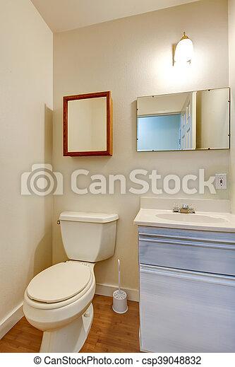 Banheiro Simples Washbasin Gabinete Pequeno Espelho