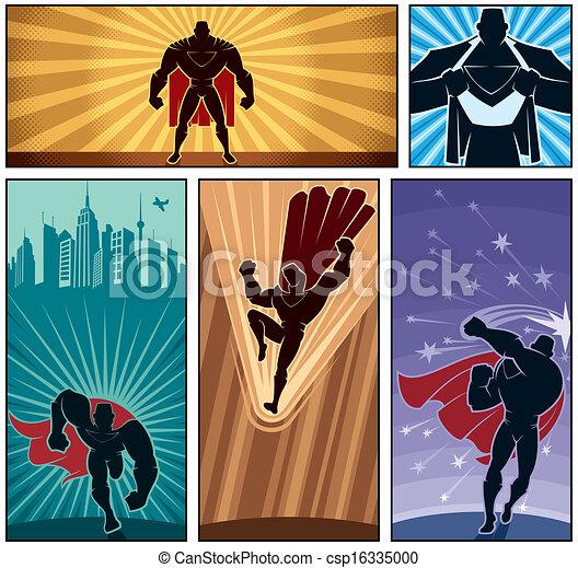 banieren, 2, superhero - csp16335000
