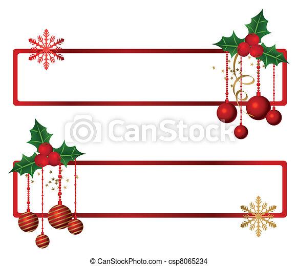 banieren, kerstmis - csp8065234