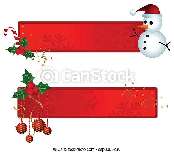 banieren, kerstmis - csp8065230