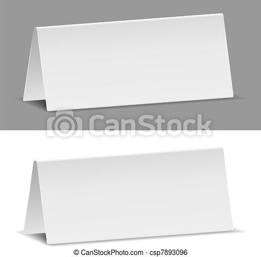 banieren, papier - csp7893096