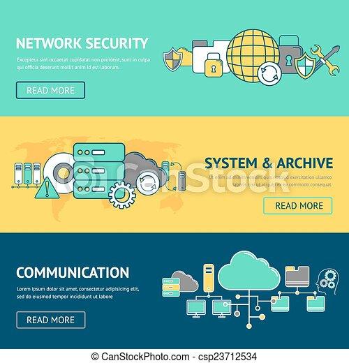 banieren, set, netwerk - csp23712534