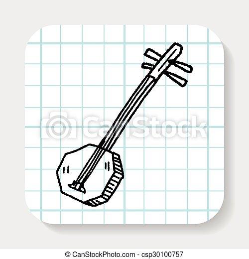Banjo doodle - csp30100757