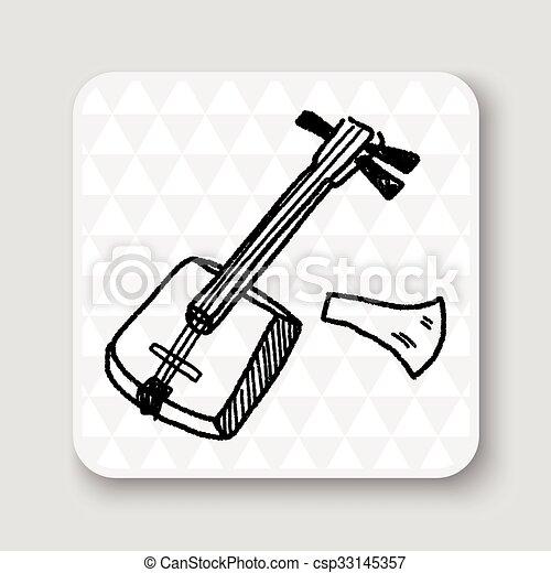 Banjo doodle - csp33145357