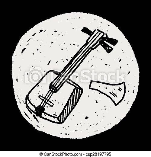 Banjo doodle - csp28197795