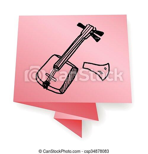 Banjo doodle - csp34878083