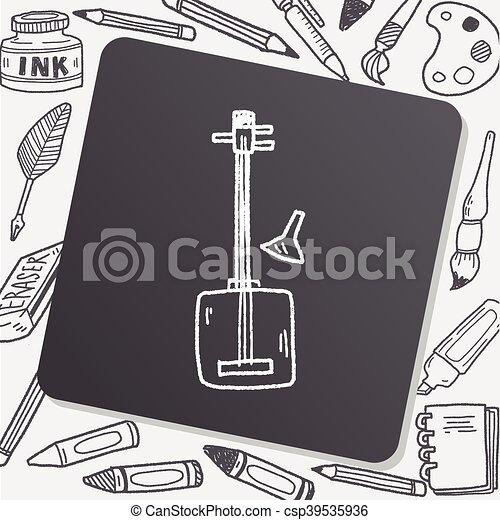 banjo doodle - csp39535936