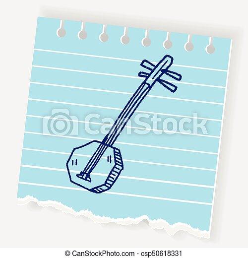 Banjo doodle - csp50618331