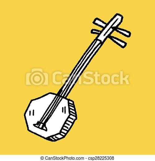 Banjo doodle - csp28225308