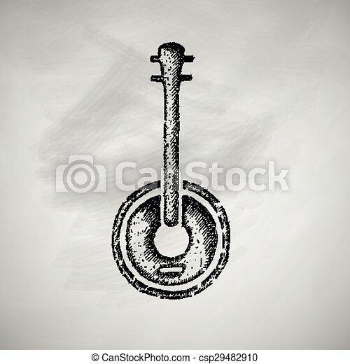 banjo icon - csp29482910