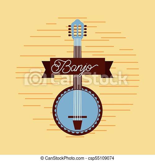 banjo jazz instrument musical festival celebration - csp55109074