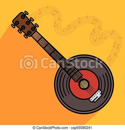 banjo musical instrument icon - csp55590241