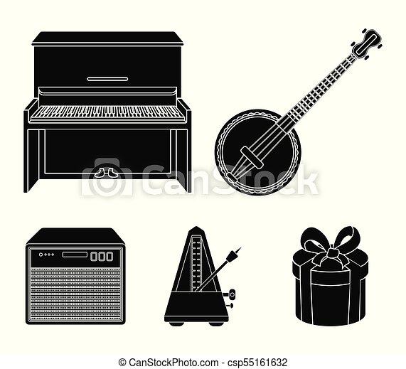 Banjo Pianoloudspeaker Metronome Musical Instruments Set