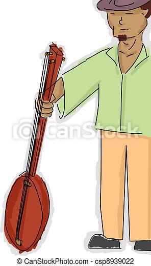 Banjo Player - csp8939022
