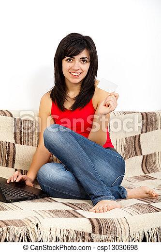 bankügylet, internet - csp13030698
