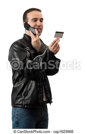 bankügylet, telefon - csp1623668